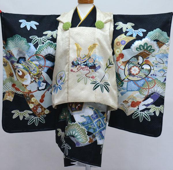 七五三 三歳 男児 被布 着物フルセット 日本製 陽気な天使 新品(株)安田屋 e412838979