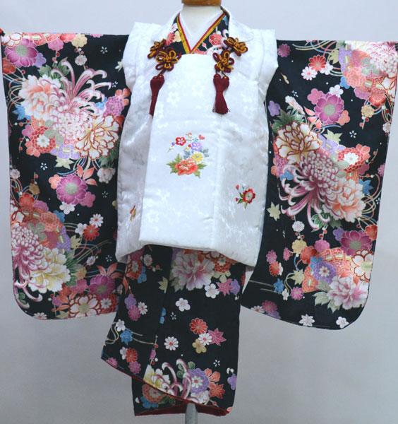 七五三 三歳 女児 女の子 被布 着物セット 日本製 綸子地 陽気な天使 三才 3歳 3才 新品 (株)安田屋 e412977125