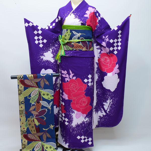 振袖・帯・襦袢3点セット 着物と帯:日本製 成人式 新品(株)安田屋 b213152145