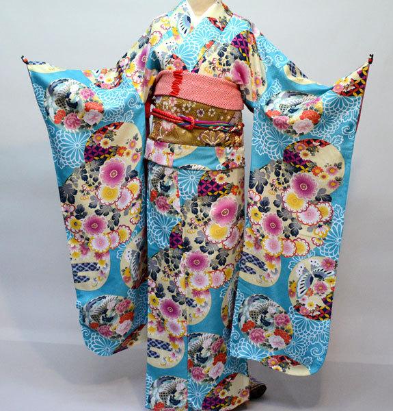 振袖 着物単品 キスミス 合繊 仕立て上がり 成人式 結納 結婚式 新品(株)安田屋 t660024247