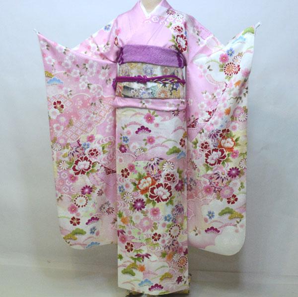 振袖 正絹 着物単品 仕立て上がり 百花繚乱 ピンク色 成人式 結婚式 結納 新品 (株)安田屋 e424610952