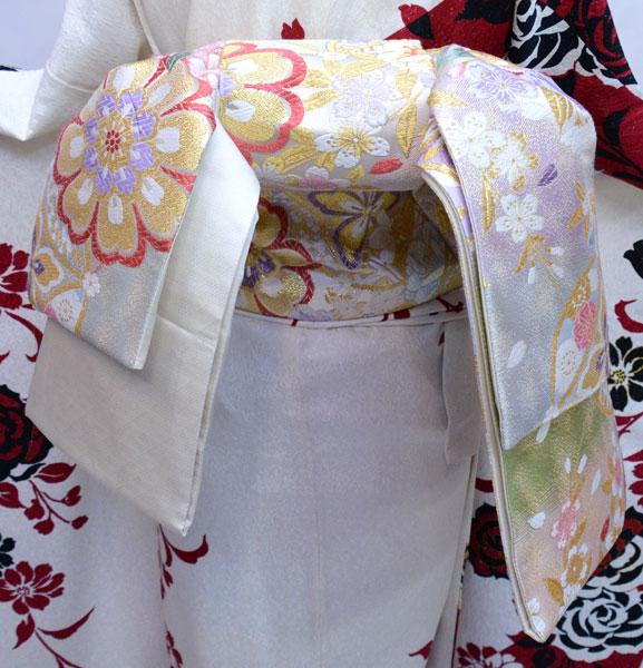 袋帯 正絹 西陣織 花文庫 作り帯 結び帯 着付け不要 新品(株)安田屋 v705286284