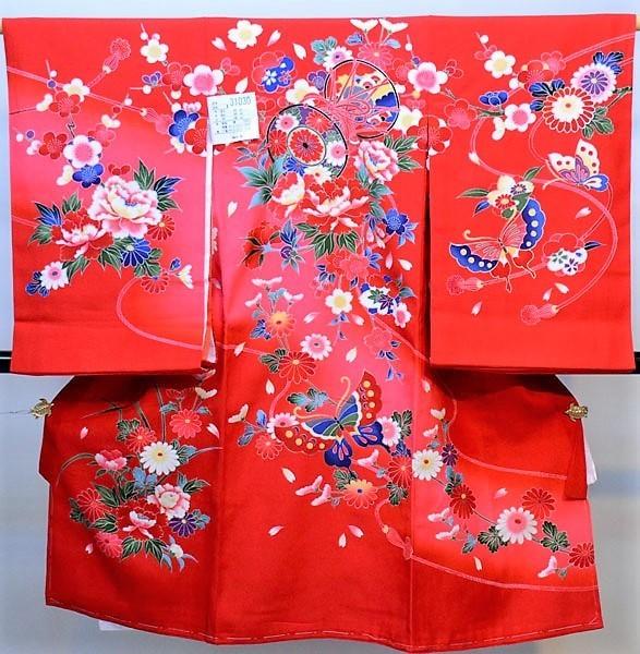 お宮参り 産着 一つ身 のしめ 祝着 着物 正絹 女児 女の子 羽二重 新品(株)安田屋 j574164959