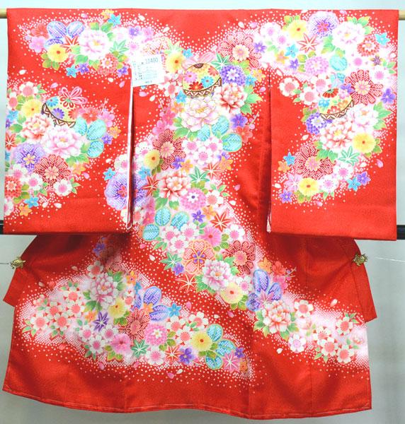 お宮参り産着 女児 女の子 のしめ 合繊 祝着 新品 (株)安田屋 w368536021