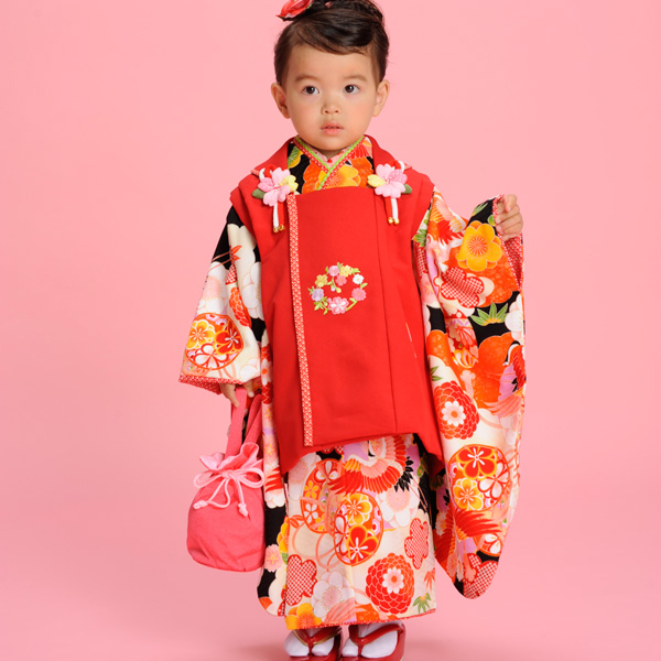 七五三 3才 3歳 三才 三歳 女児 女の子 被布着物祝着フルセット 式部浪漫 新品(株)安田屋c673788273