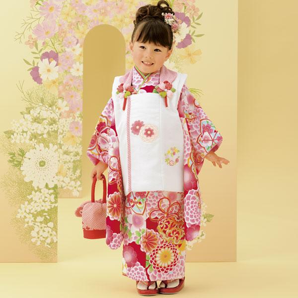七五三 3才 3歳 三才 三歳 女児 女の子 被布着物祝着フルセット 式部浪漫 2016年モデル 新品(株)安田屋f188830129