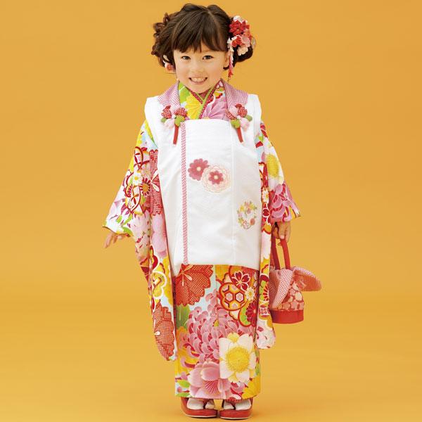 七五三 3才 3歳 三才 三歳 女児 女の子 被布着物祝着フルセット 式部浪漫 2016年モデル 新品(株)安田屋f188830121