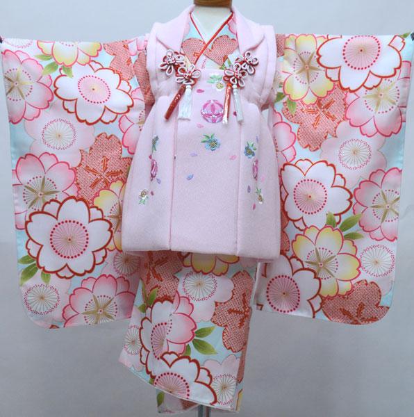 七五三 3歳 3才 三歳 三才 女児 被布着物フルセット 染め加工日本 新品(株)安田屋 v693653799
