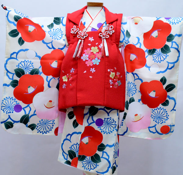 七五三 三歳 女児 被布着物フルセット 染め加工日本 新品(株)安田屋 c803345575