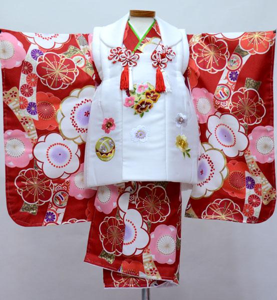 七五三 三歳 女児 被布着物フルセット 染め加工日本 新品(株)安田屋 v693653791