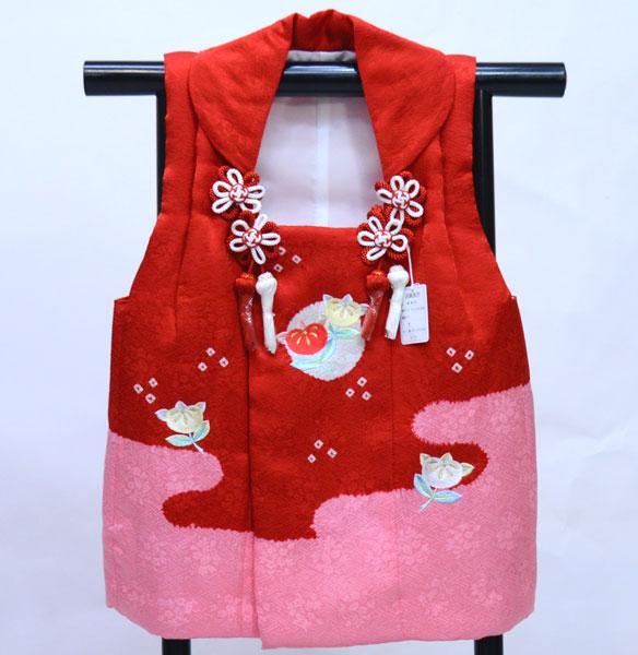 七五三 三歳 女児 正絹 絞り 刺繍入り 被布コート 日本製 単品 新品(株)安田屋 u336990717