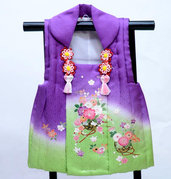 七五三 三歳 女児 正絹 被布コート 日本製 単品 新品(株)安田屋 u336656704