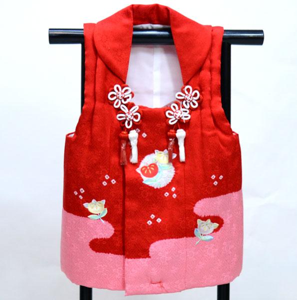 七五三 三歳 女児 正絹 絞り 刺繍入り 被布コート 日本製 単品 新品(株)安田屋 x680458787