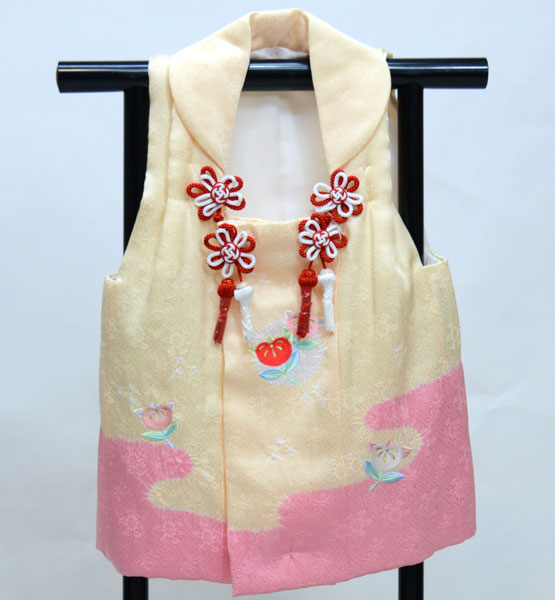 七五三 三歳 女児 正絹 絞り 刺繍入り 被布コート 日本製 単品 新品(株)安田屋 t706825111