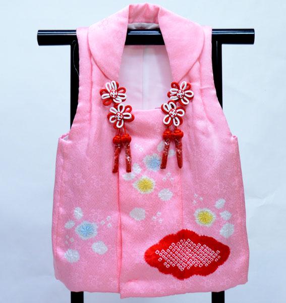 七五三 三歳 女児 正絹 絞り 被布コート 日本製 単品 新品(株)安田屋 t706805680