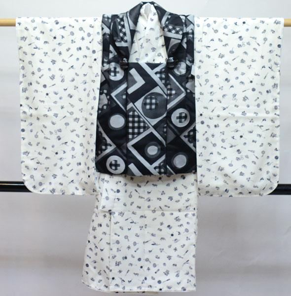七五三 3歳 3才 三歳 三才 男の子 男児 被布 着物フルセット 生地は日本製 新品(株)安田屋 462296958