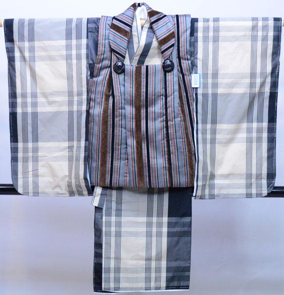 七五三 3歳 3才 三歳 三才 男の子 男児 被布 着物フルセット 生地は日本製 新品(株)安田屋 p760148696