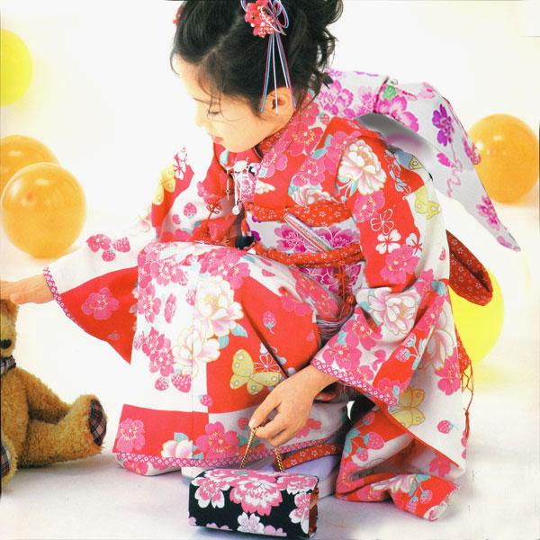 七五三 7才 7歳 七才 七歳 女児 祝着 フルセット はなまい 新品(株)安田屋 x694464863
