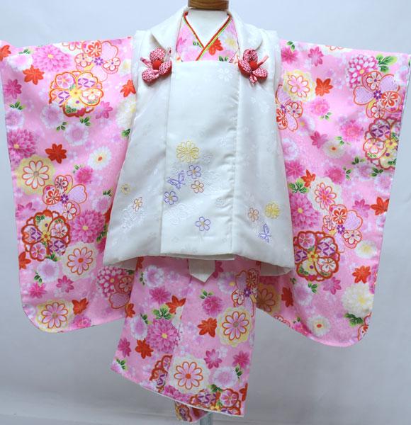 七五三 3歳 3才 三歳 三才 女児 女の子 被布 着物フルセット 百花繚乱 祝着 新品 (株)安田屋 g432595429
