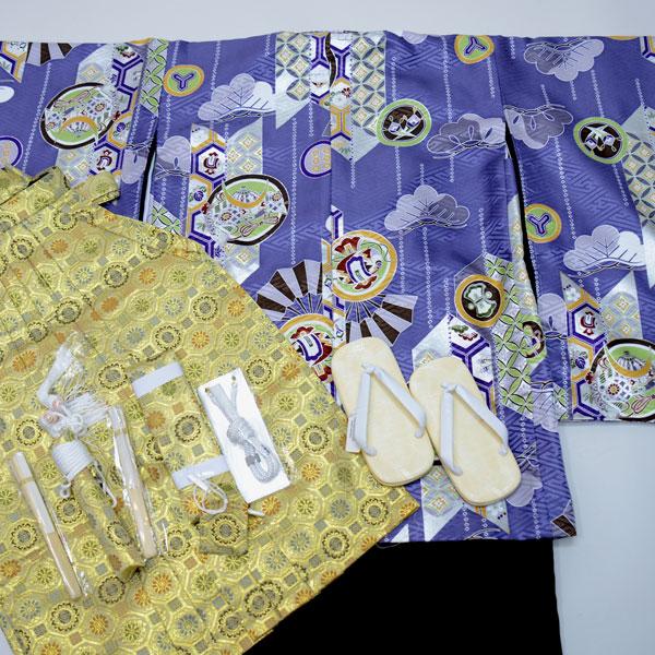 七五三 5歳 5才 五歳 五才 男の子 男児 祝着 羽織着物袴フルセット 式部浪漫 (仕立て可95-120cm 草履サイズ変更可) 新品(株)安田屋 e198748254