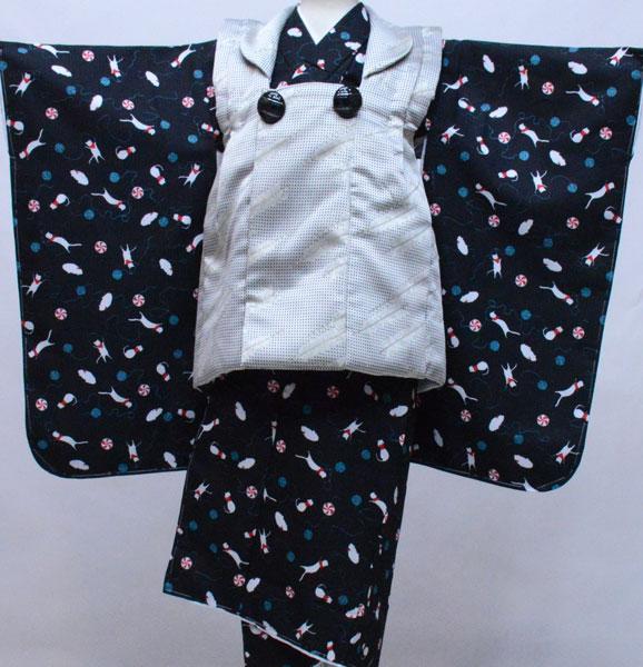 七五三 三歳 男児 被布 着物フルセット 生地は日本製 おりびと 新品 (株)安田屋 p736843368