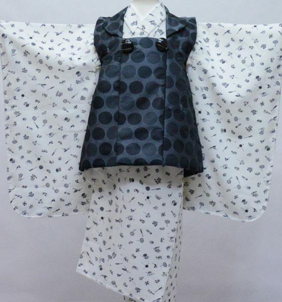 七五三 三歳 男児 被布 着物フルセット 生地は日本製 おりびと 新品 (株)安田屋 q338370178