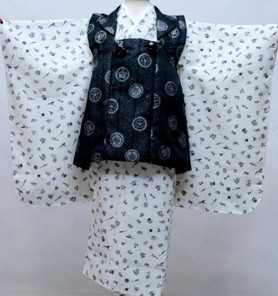 七五三 三歳 男児 被布 着物フルセット 生地は日本製 おりびと 新品 (株)安田屋 f396882197