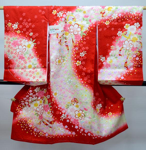 お宮参り産着 女児 女の子 正絹 日本製 のしめ 祝着 着物 一つ身 初着 綸子地 新品 (株)安田屋 k279657265