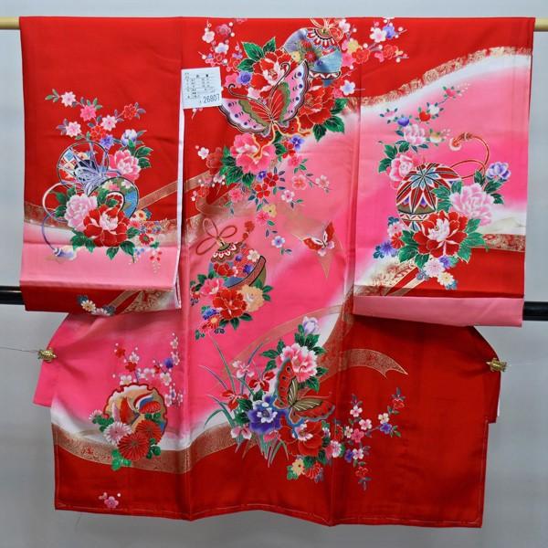 お宮参り産着 一つ身 のしめ 祝着 着物 正絹 女児 女の子 羽二重 新品(株)安田屋 b286212986