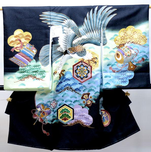お宮参り産着 男児 男の子 のしめ 一つ身 祝着 合繊 新品 (株)安田屋 j491620945