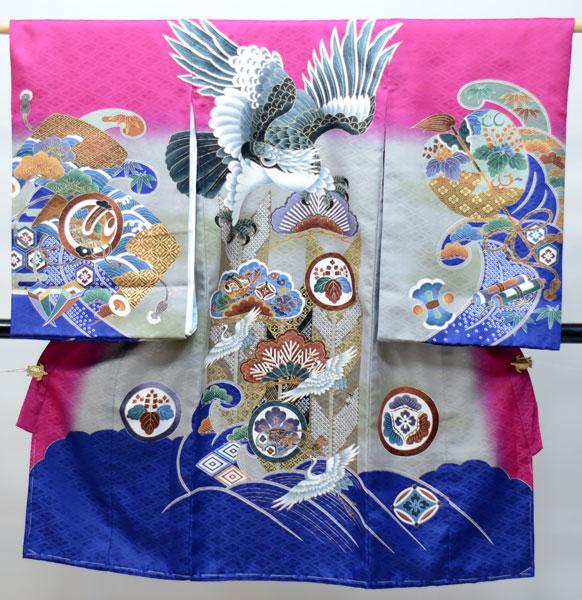 お宮参り産着 男児 男の子 のしめ 一つ身 祝着 合繊 新品 (株)安田屋 j491620933