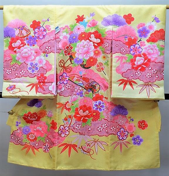 お宮参り産着 女児 女の子 のしめ 一つ身 祝着 合繊 新品 (株)安田屋 j491674649