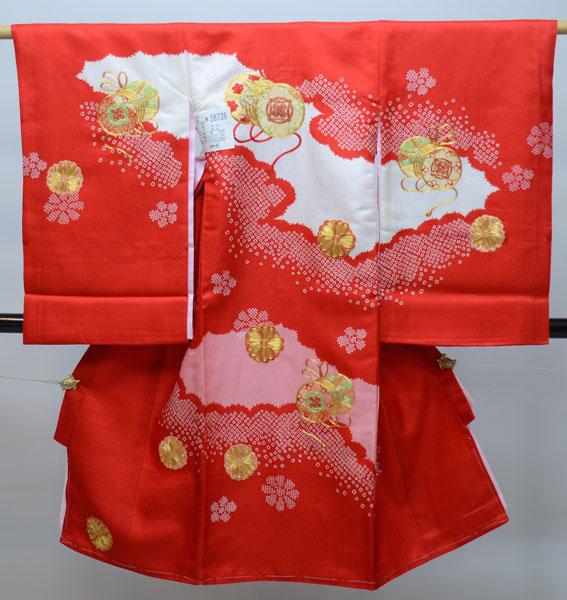 お宮参り産着 女児 女の子 正絹 のしめ 金刺繍 祝着 着物 一つ身 初着 新品 (株)安田屋 m267701622