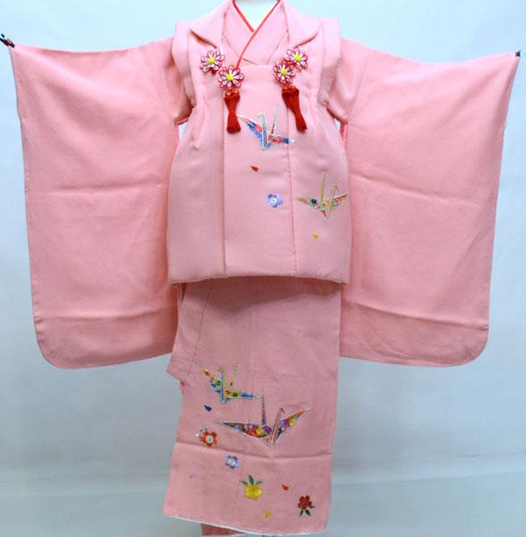 七五三 三歳 正絹 被布着物フルセット 刺繍入り 新品 (株)安田屋 k441131974