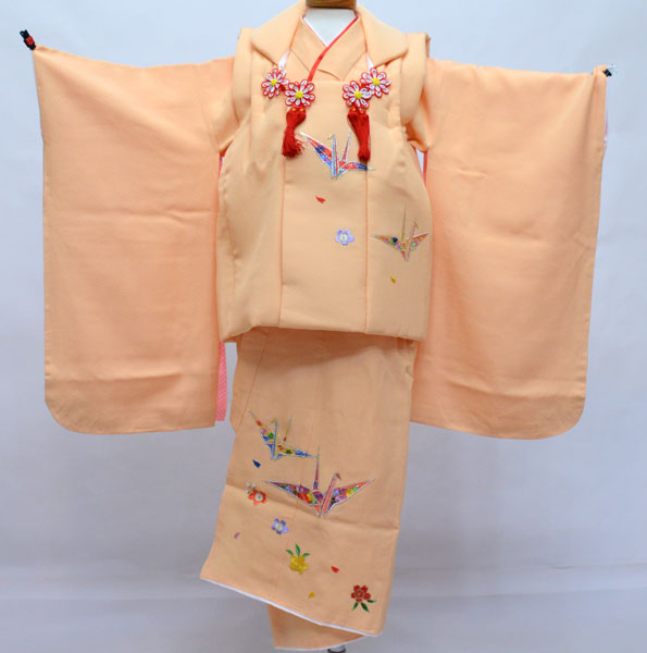 七五三 三歳 正絹 被布着物フルセット 刺繍入り 新品 (株)安田屋 r379166926