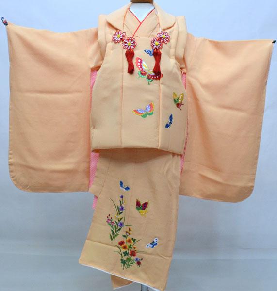 七五三 三歳 正絹 被布着物フルセット 刺繍入り 新品 (株)安田屋 l579052486
