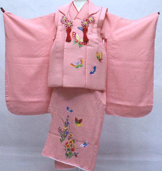 七五三 三歳 正絹 被布着物フルセット 刺繍入り 新品 (株)安田屋 s716804526