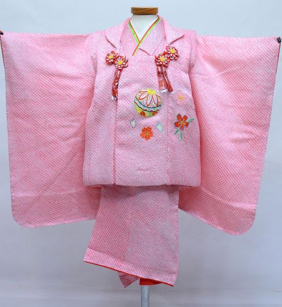 七五三 三歳 女児 正絹 総絞り 被布着物セット 夢想 新品(株)安田屋 t703711650
