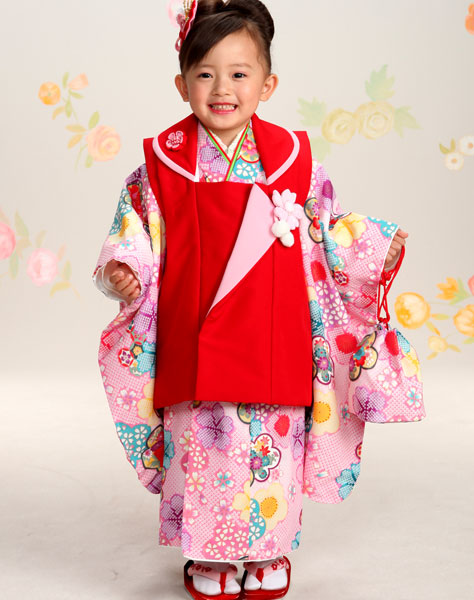 七五三 3歳 3才 三歳 三才 女児 女の子 被布 着物 祝着フルセット おりびと 新品(株)安田屋 v494151540
