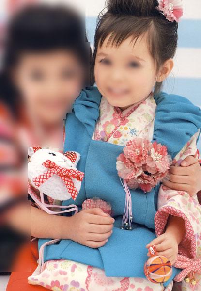 七五三 3才 3歳 三才 三歳 女児 被布 祝着 着物セット JAPAN STYLE 新品 (株)安田屋 t429871898