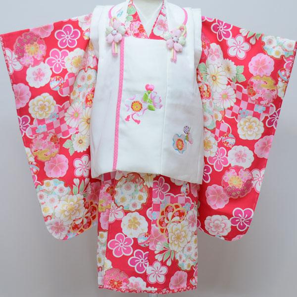 七五三 3才 3歳 三才 三歳 正絹 女児 女の子 被布着物祝着フルセット 式部浪漫 新品(株)安田屋r165031128