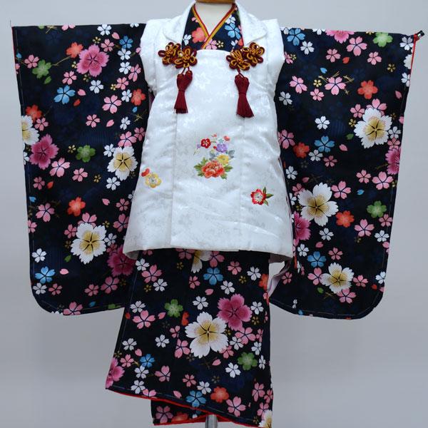 七五三 3才 3歳 三才 三歳 女児 女の子 被布着物祝着フルセット 日本製 陽気な天使 綸子地 新品(株)安田屋b246382331