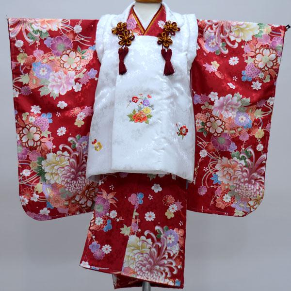 七五三 3才 3歳 三才 三歳 女児 女の子 被布着物祝着フルセット 日本製 陽気な天使 綸子地 新品(株)安田屋b246382335