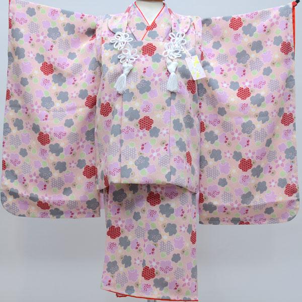 七五三 3才 3歳 三才 三歳 女児 女の子 被布着物祝着フルセット 日本製 しぼの大きいちりめん地 縮緬地 新品(株)安田屋 c587888394
