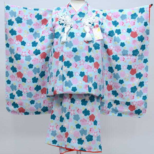 七五三 3才 3歳 三才 三歳 女児 女の子 被布着物祝着フルセット 日本製 しぼの大きいちりめん地 縮緬地 新品(株)安田屋 c587888390