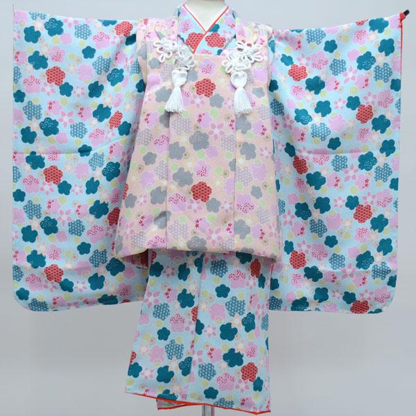 七五三 3才 3歳 三才 三歳 女児 女の子 被布着物祝着フルセット 日本製 しぼの大きいちりめん地 縮緬地 新品(株)安田屋 c587888366