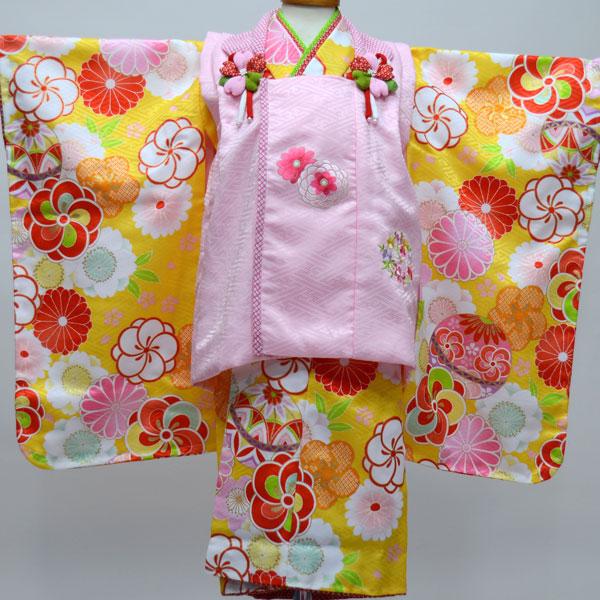 七五三 3才 3歳 三才 三歳 女児 女の子 被布着物祝着フルセット 日本製 ポリエステル 式部浪漫 新品(株)安田屋 b247574496