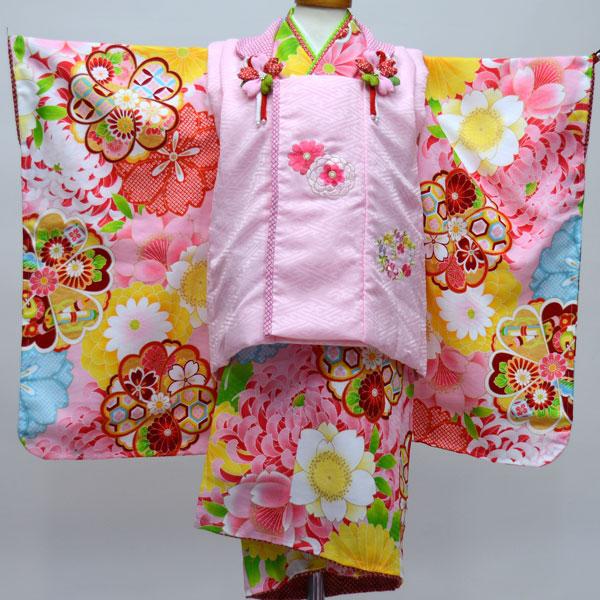 七五三 3才 3歳 三才 三歳 女児 女の子 被布着物祝着フルセット 日本製 ポリエステル 式部浪漫 新品(株)安田屋 b247574504