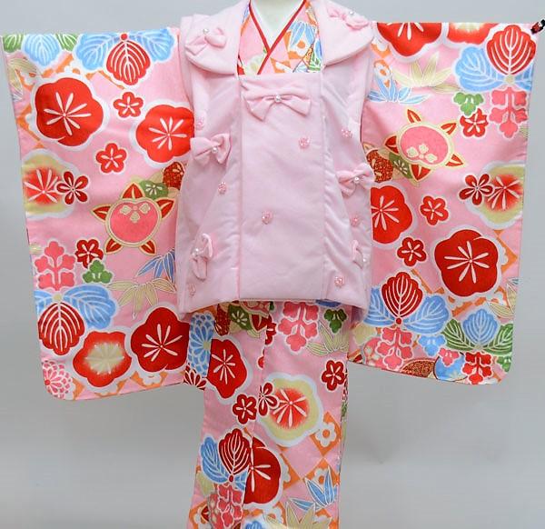 七五三 3才 3歳 三才 三歳 女児 女の子 被布着物フルセット 祝着 古都小町 腰上げ必要 新品(株)安田屋 u182460425