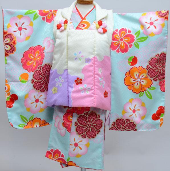 七五三 3才 3歳 三才 三歳 女児 女の子 被布着物祝着フルセット 式部浪漫 生地は日本製 ポリエステル 新品(株)安田屋j471656594